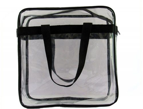 customised shopping bags fashion clear pvc zipper bags transparent